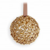 Garland Ball Ornament, 8cm - Gold
