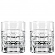 Set/2 Double Old Fashioned Glasses, 10cm, 340ml - Clear