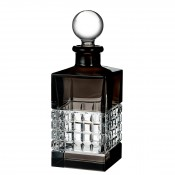 Square Base Decanter with Stopper, 26cm, 740ml - Smoke