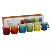 Set/6 Assorted Colours Espresso Cups