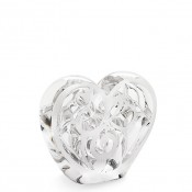 Music Is Love - Clear Heart Paperweight, 12cm