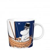 Cartoon Character Mug, 8cm, 300ml - Moominpappa Deep Blue