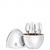 Set/6 Espresso Spoons with Storage Capsule - Silver Plate