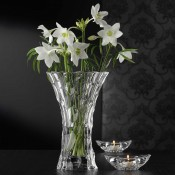 3-Piece Crystal Vase & 2 Crystal Votives Set
