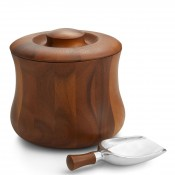 Wooden Ice Bucket with Plastic Insert & Scoop