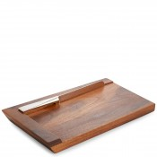 Geo - Challah Bread Board with Knife, 44.5x24cm