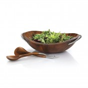 Salad Bowl with Servers, 51cm