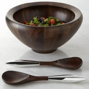 Salad Bowl with Servers, 35.5cm, 3.8L - Espresso