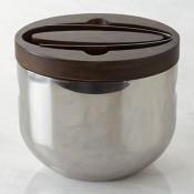 Ice Bucket with Tongs, 21cm - Espresso