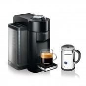 Evoluo Deluxe Coffee/Espresso Maker + Aeroccino Bundle, 1.6L - Black