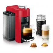 Evoluo Vertuo Coffee/Espresso Maker + Aeroccino Bundle, 1.6L - Shiny Red
