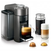 Evoluo Vertuo Coffee/Espresso Maker + Aeroccino Bundle, 1.6L - Graphite Metal
