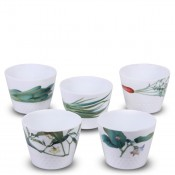 Set/5 Assorted Motifs Japanese Cups/Tumblers, 205ml