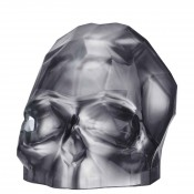 Faceted Crystal Skull, 20.5cm - Silver - Large