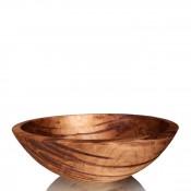 Round Wood Salad/Decorative Bowl, 35cm - Ambrosia Maple