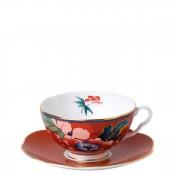 Teacup & Saucer, 140ml - Red