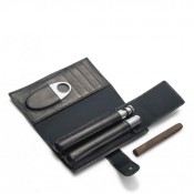 Churchill - Cigar & Cognac Flask Connoisseur Travel Kit, 18x10cm