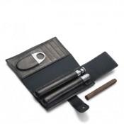 Churchill - Cigar & Cognac Flask Connoisseur Travel Kit, 18x10cm