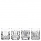 Set/4 Double Old Fashioned Glasses, 10.5cm, 350ml - Assorted Motifs