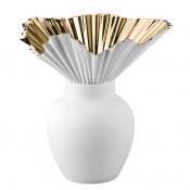 Falda - Ceramic/Porcelain Flower Vase, 27cm - Gold