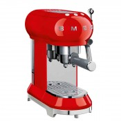 50's Retro Style - Manual Espresso Coffee Machine - Red