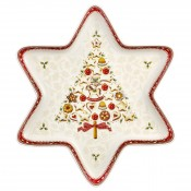 Star-Shaped Decorative Shallow Serving Tray/Bowl, 37x33cm