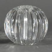 Swirl - Faceted Oval Glass Vase, 18cm