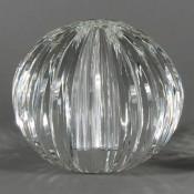 Swirl - Faceted Oval Glass Vase, 23cm