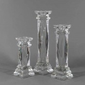 Tower - Classic X Faceted Glass Candleholder, 38cm
