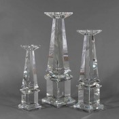 Tower - Classic Glass Candleholder, 40.5cm