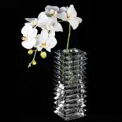Wedge Glass Vase, 35.5cm
