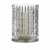 Luma Hurricane Lamp with Metal Base, 25.5cm