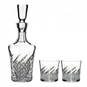 Wild Atlantic Way Decanter & Set/2 Rock/Old Fashioned Glasses