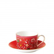 Teacup & Saucer, 145ml - Imperial Shape - Crimson Jewel
