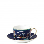 Teacup & Saucer, 145ml - Imperial Shape - Blue Pagoda