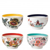 Set/4 Assorted Designs Tea/Small Bowls, 8.5cm