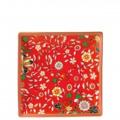 Square Tidbit Plate/Tray, 15cm - Crimson Jewel