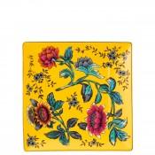 Square Tidbit Plate/Tray, 15cm - Yellow Tonquin