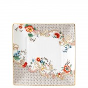Square Tidbit Plate/Tray, 15cm - Rococo Flowers