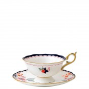 Teacup & Saucer, 145ml - Scalloped Peony Shape - Jasmine Bloom