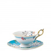 Teacup & Saucer, 145ml - ScallopedPeony Shape - Apple Blossom