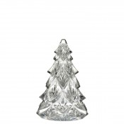 2017 Christmas Tree Crystal Sculpture, 11.5cm - Clear - Medium