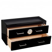 2-Drawer Humidor, 39.5x16x20.5cm - Black