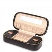 Zip Black Jewelry Case