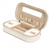 Zip Cream Jewelry Case