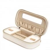 Zip Cream Jewelry Case