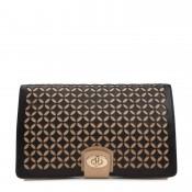 Clutch Leather Jewelry Portfolio Travel Case, 26x17x3cm - Black