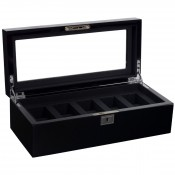 5-Piece Black Watch Box