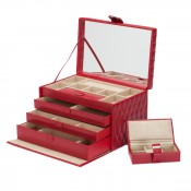 Large Red Jewelry Case