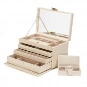 Large Cream Jewelry Case